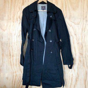 F21 • Black Trench Coat